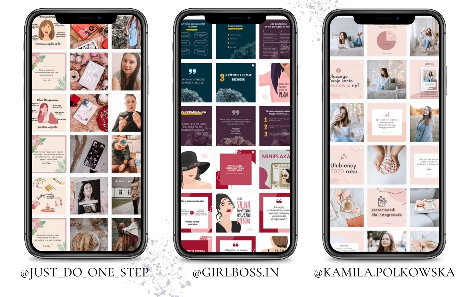 6 przyklady kont biznesowych jak planowac publikacje na instagramie jak obrabiac zdjecia jak zaplanowac spojny feed na profilu na instagramie dla marki bloga blogerki modelki fotografa