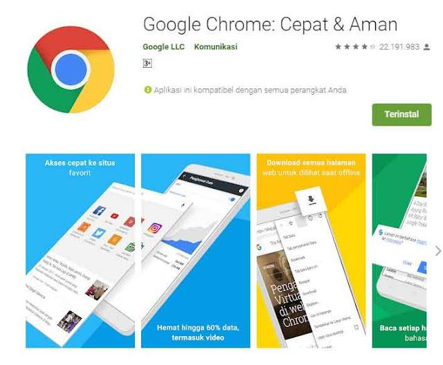 Aplikasi penghemat kuota google chrome