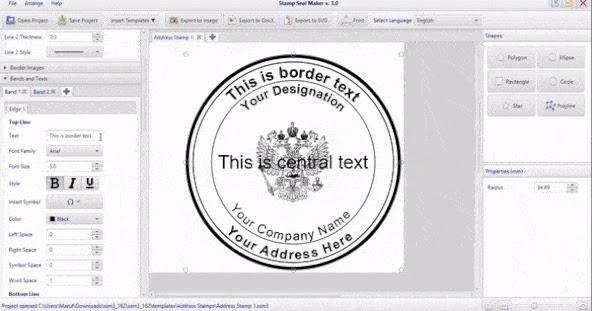 تحميل برنامج صانع الاختام عربى 2021 Stamp Seal Maker