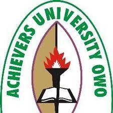 Achievers University JUPEB Programme 2017/18 Admission Form Out
