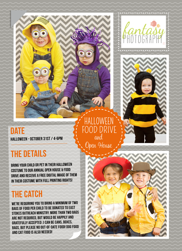 winston salem childrens photographers | food drive open house halloween