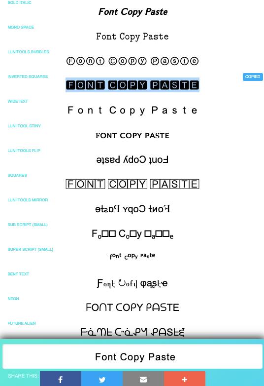 Font Copy Paste - Cool Fancy Text Generator