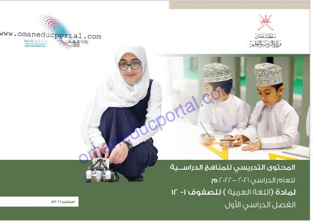 خطة المحتوي التدريسي في اللغة العربية