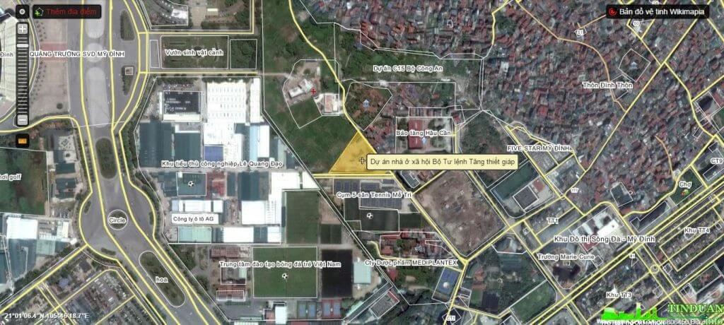 Vị trí dự án Tăng Thiết Giáp Mỹ Đình.