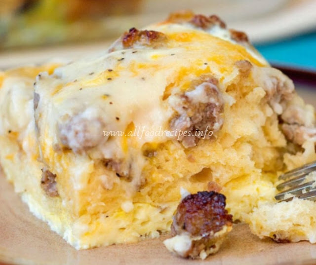Biscuits With Gravy & Sausages With Eggs