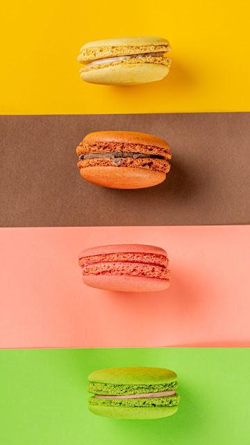 Colorful macarons, cookies, dessert