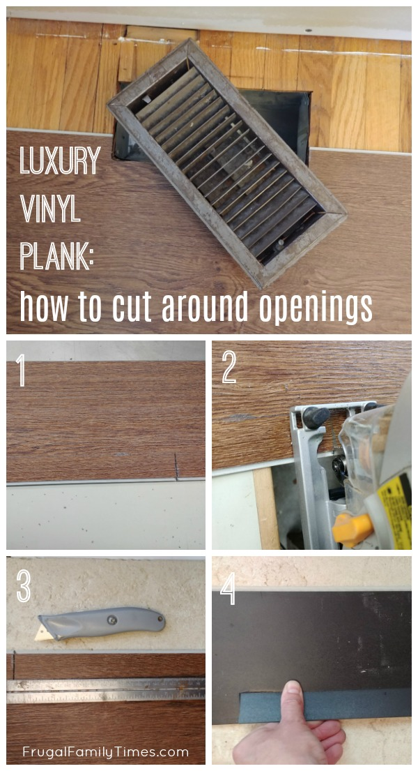 cutting vinyl plank flooring around openings