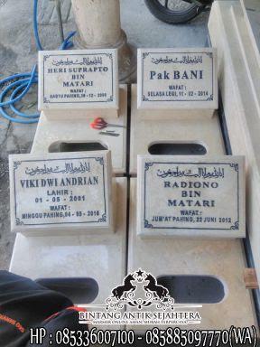 Batu Nisan Marmer Tulungagung, Harga Nisan Dari Marmer, Model Nisan Marmer
