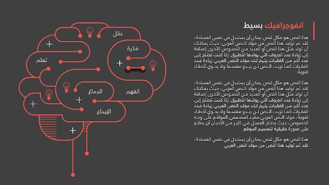 انفوجرافيك عربي للبوربوينت