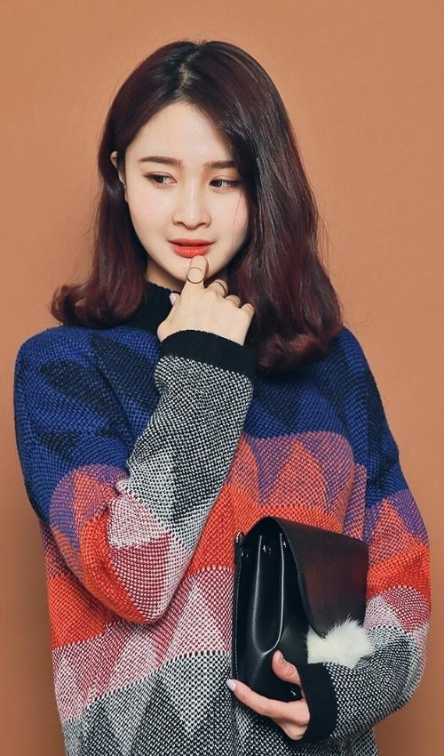 Multicolored Sweater Dress