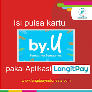 isi pulsa by.u langitpay indonesia