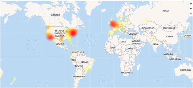 بعد فيسبوك ، تويتر لا يعمل على المستوى العالمي