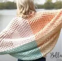 Chaqueta Cocoon a Crochet