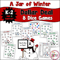 A Jar of Winter Addition Games