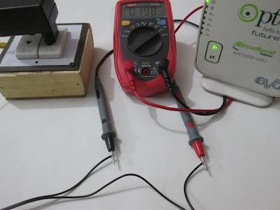 Measurement of current flowing through a DSL modem