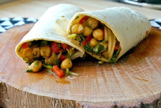 Chickpea Wraps - Vegan