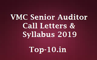 VMC Senior Auditor Call Letters & Syllabus 2019