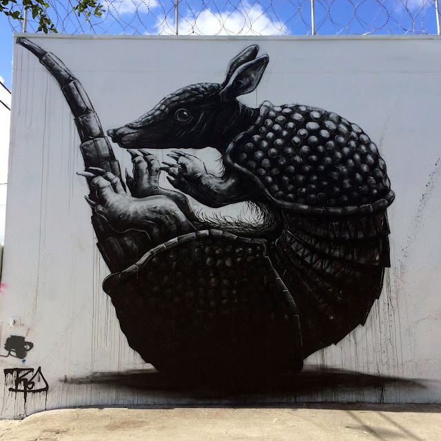 """Armadillo"" New Mural By Belgian Street Artist ROA in Miami For Art Basel 2013. 1"