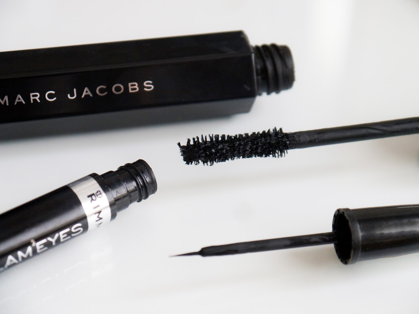 Marc Jacobs Velvet noir mascara Rimmel glam eyes liquid liner