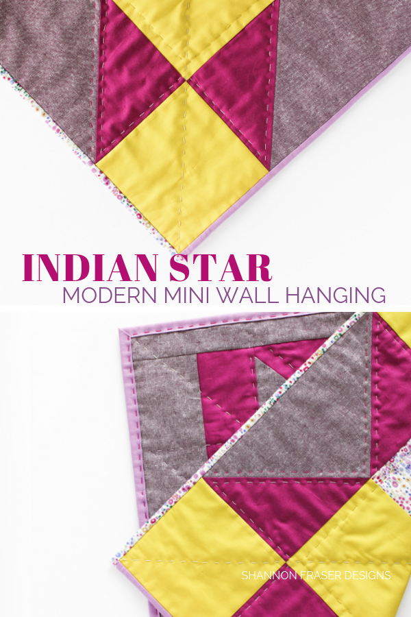 Indian Star Modern Mini Wall Hanging | Quilt Big Blog Hop | Shannon Fraser Designs