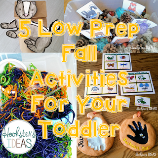 Hookster's Ideas: 5 Low Prep Fall Activities for Your Toddler