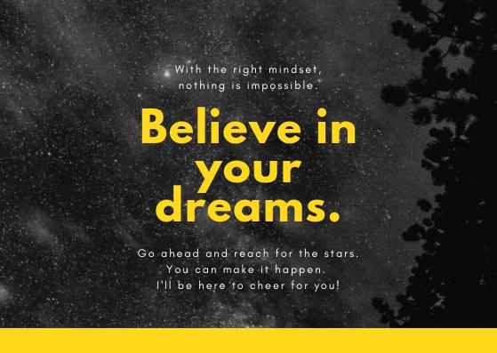 Believe In Your Strengths