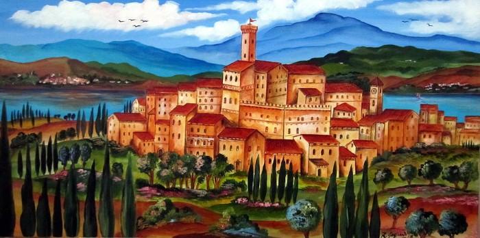 Итальянские деревни и пейзажи. Roberto Gagliardi 9