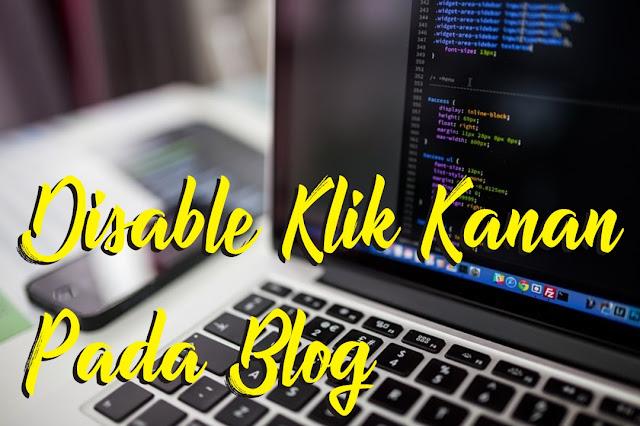 disable klik kanan pada blog