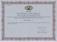 Sertifikat Akreditasi Program Studi Biologi dan Pendidikan Biologi UNP