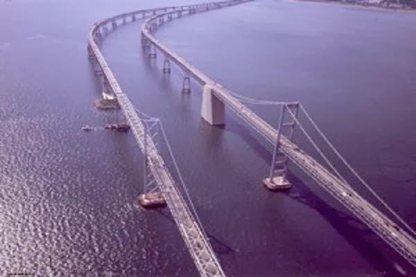 Jembatan Chesapeake Bay di Maryland