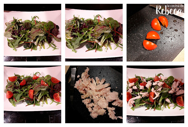 Receta de ensalada de pollo, aguacate y anacardos 01