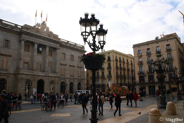 Placa de Sant Jaume una piazza del Barrì Gotic