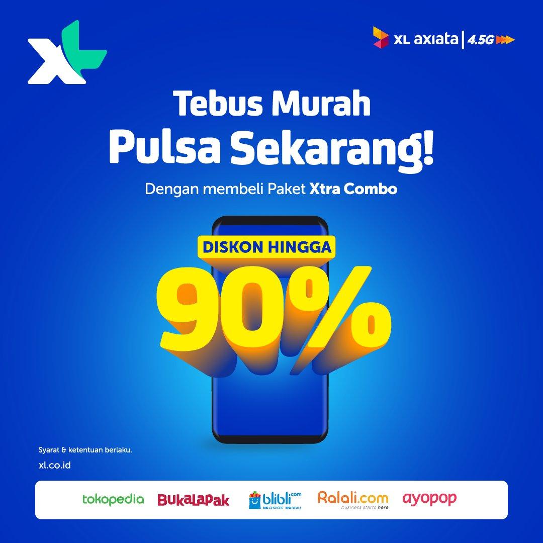 XL - Promo Diskon s.d 99% Paket Xtra Combo di Marketplace (s.d 25 Nov 2018)