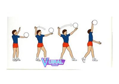 Gambar Teknik Dasar Permainan Bola Voli Service Atas