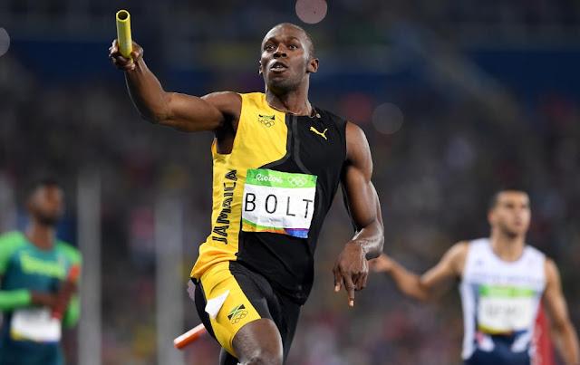 Bolt corrió el tramo final con su dominio de siempre y encabezó la victoria de Jamaica