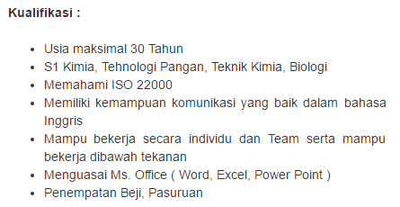 Info Lowongan Pekerjaan Terbaru Kota Pasuruan 2019