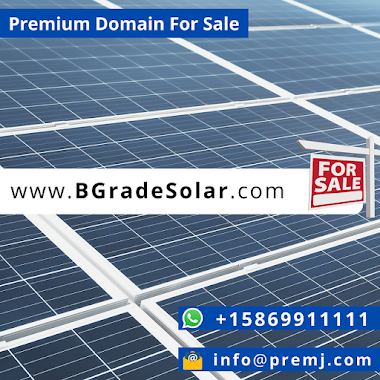 BGradeSolar.com Premium Domain For Sale