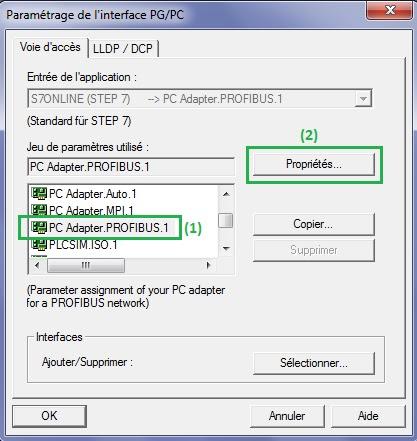 Properties PG PC interface
