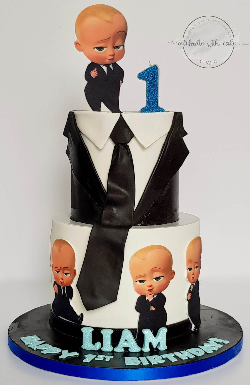 Celebrate With Cake Baby Boss 2 Tiers 1st Birthday Cake