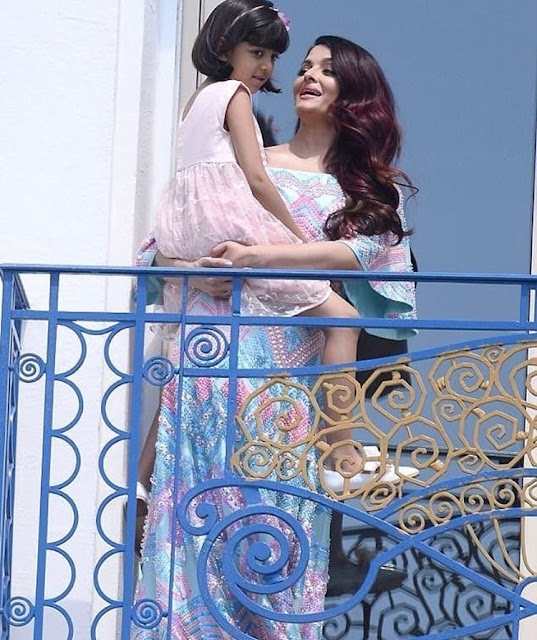 aishwarya rai bachchan and aradhya bachchan at cannes 2018