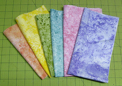 6 fabrics used in placemats
