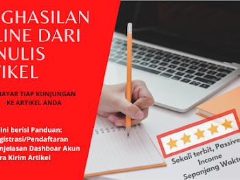 Penghasilan Online dengan Menulis Artikel (Paid to Write)