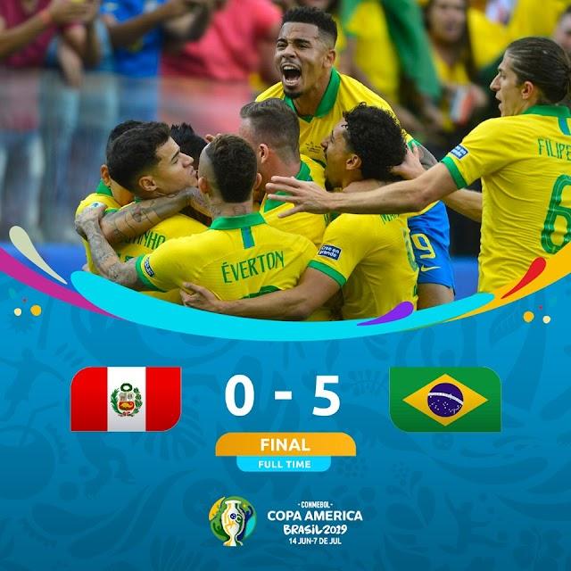 Peru vs Brazil Goal Copa America 23.6.2019