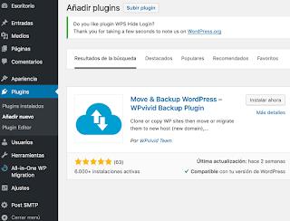 Cómo hacer respaldos o copias de seguridad de tu sitio web en Wordpress