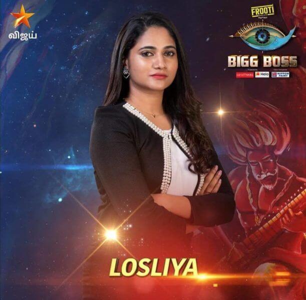 Losliya Mariyanesan bigg boss tamil 3