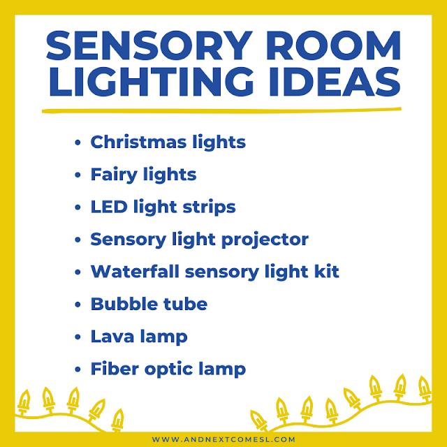 Suggestions for sensory room lighting