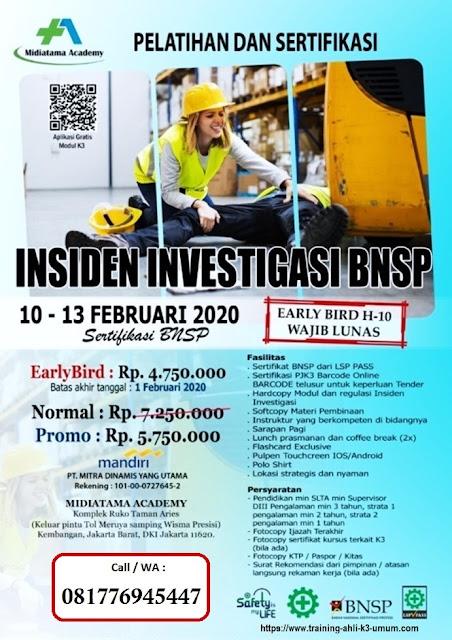 Investigasi Insiden tgl.10-113 Februari 2020 di Jakarta
