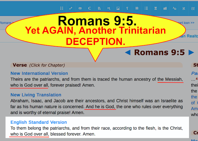 Romans 9:5. Yet AGAIN, Another Trinitarian DECEPTION.
