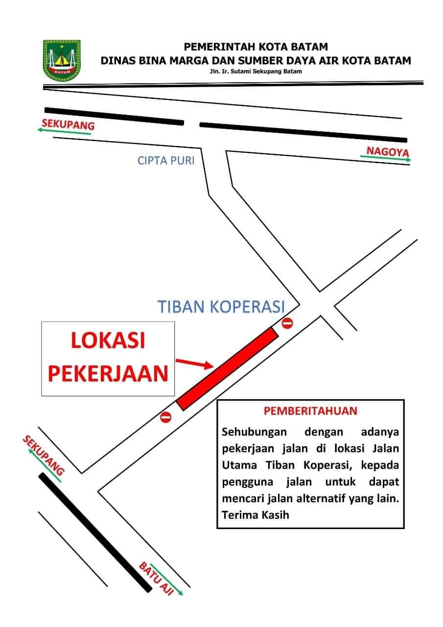 Jalan Tiban Koperasi Diperbaiki, Pengguna Jalan Diminta Cukup Lewat Gajah Mada