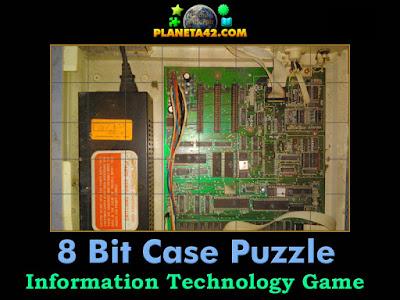 An 8 bit computer case puzzle